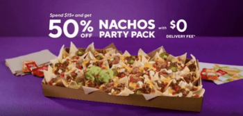 Taco Bell 50% Off Nachos Party Pack