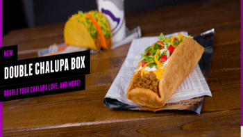 Taco Bell $5 Double Chalupa Box