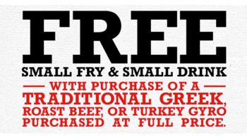 Arby's Free Fry & Drink with Gyro Purchase