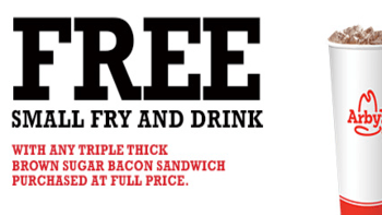 Arby's Free Fries & Drink w/ Purchase