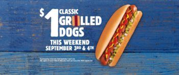 Burger King $1 Classic Grilled Dog Deal