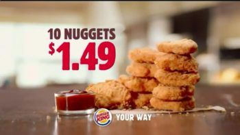 Burger King $1.49 10 Piece Nuggets Deal