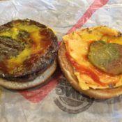 Burger King Double Cheeseburger Open Face