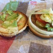 Burger King Whopper Junior Sandwich Open Face
