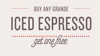 Starbucks B1G1 Iced Expresso