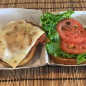 Chick-fil-A Chicken Deluxe Sandwich Open Face