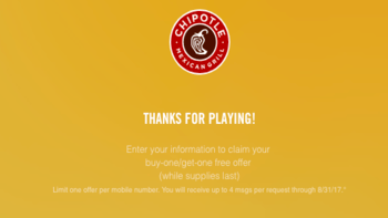 Chipotle Buy One Get One Coupon