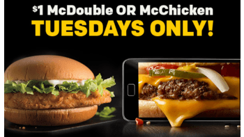 McDonald's $1 McDouble or McChicken Deal