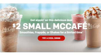McDonald's $2 Smoothie, Frappe or Milkshake Deal
