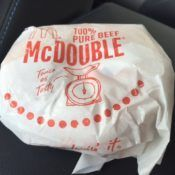 McDonald's McDouble Wrapper