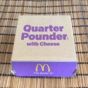McDonald's Quarter Pounder with Cheese Box