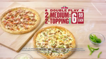 Papa John's $6.99 Double Play (2 Medium 2 Topping) Deal