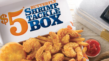 Popeyes $5 Butterfly Shrimp Tackle Box