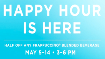 Starbucks 50% Off Any Frappuccino Blended Beverage
