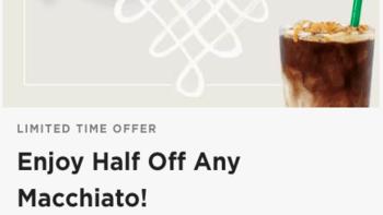 Starbucks Half Off Any Macchiato