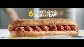 Subway $6 Sub of the Day Deal