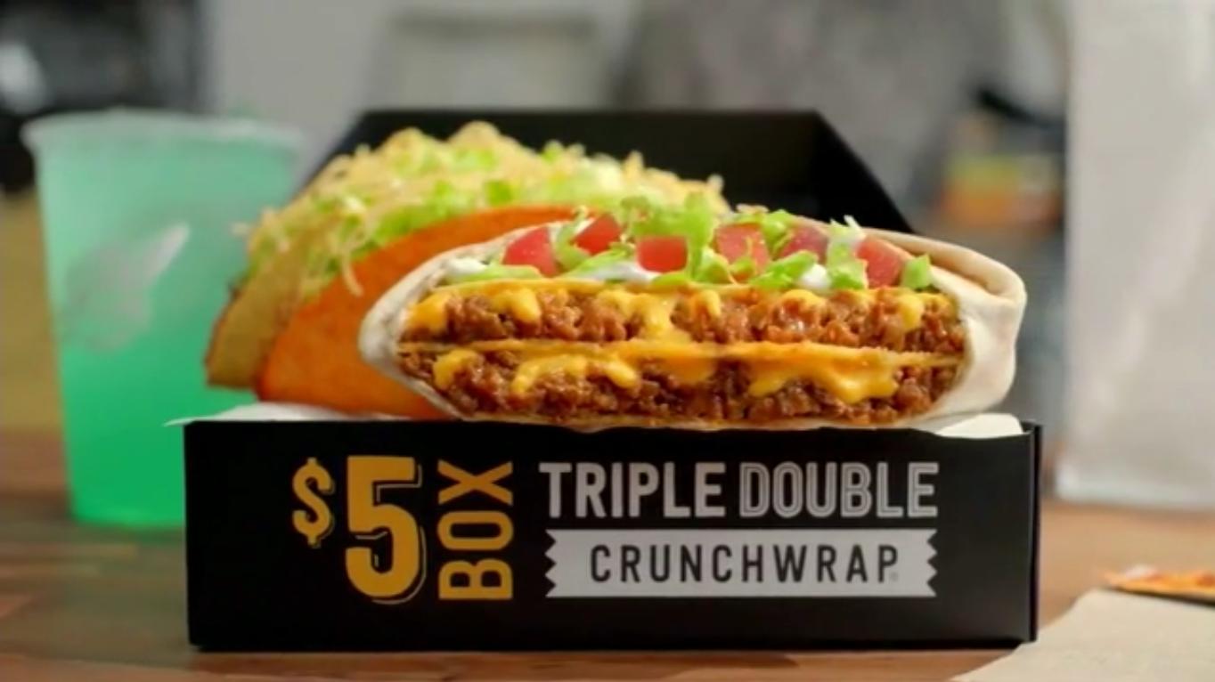 Taco Bell 5 Triple Double Crunchwrap Deal Valuegrub