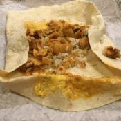 Taco Bell Beefy Fritos Burrito Inside