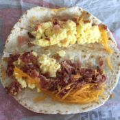 Taco Bell Breakfast Soft Taco Open Face