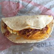 Taco Bell Breakfast Soft Taco Inside