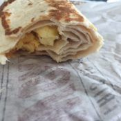 Taco Bell Grilled Breakfast Burrito Inside
