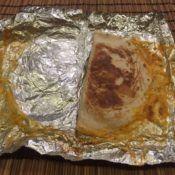 Taco Bell Mini Shredded Chicken Quesadilla Open