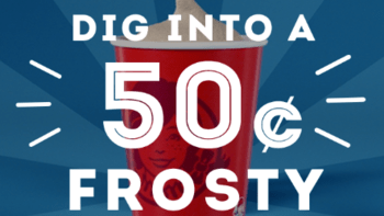 Wendy's Small Frosty for $0.50