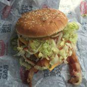 Checkers Bacon Checker Burger Inside