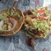 Checkers Bacon Checker Burger Open Face