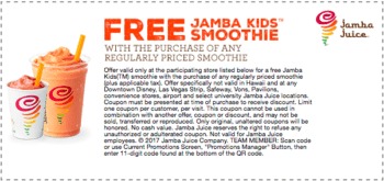 "The Jamba Juice birthday freebie is one sixteen size smoothie for $2 now an actual free juice or smoothie!So is that good? It sure is! Now I don't have to spend precious brain power trying to figure out if ""one sixteen size"" refers to ounces or gallons AND I end up with a free drink."